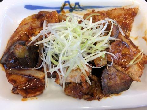 松屋豚と茄子の辛味噌炒め定食