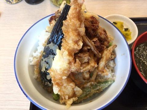 天丼・天ぷら本舗さん天炙り穴子のかき揚げと海老の天丼