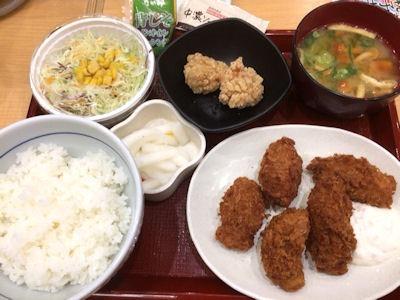 なか卯カキフライ定食