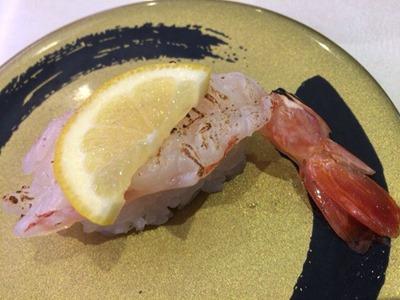 はま寿司本鮪大とろと初冬の味自慢天然赤えび炙り塩レモン
