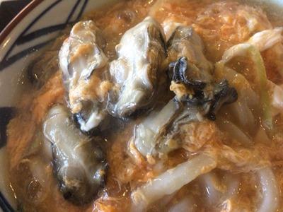 丸亀製麺牡蠣づくし玉子あんかけうどん