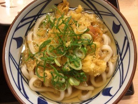 丸亀製麺夜なきうどんの日かけうどん