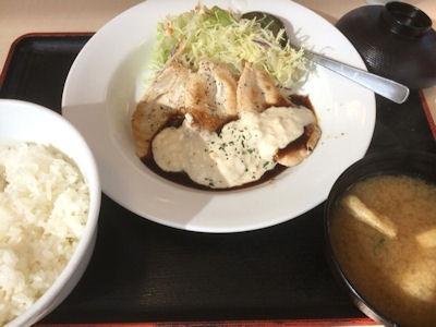 松屋鶏タルささみステーキ定食