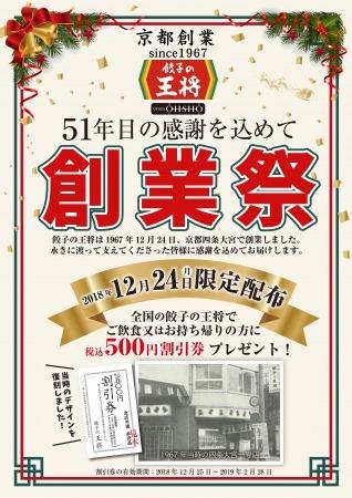 餃子の王将創業祭ポスター