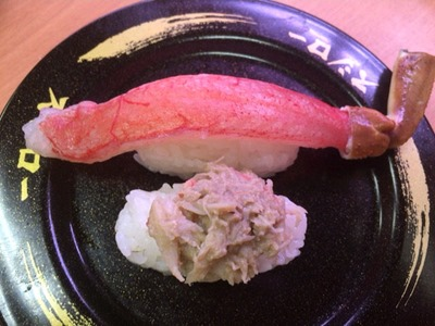 スシローこの冬、最後のかに祭り。大型生本ずわい蟹&かに味噌和え