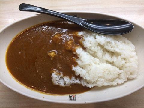 くら寿司黒酢のシャリカレー