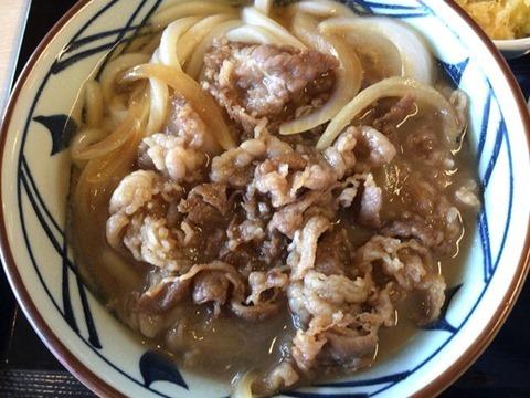 丸亀製麺肉うどん(並)
