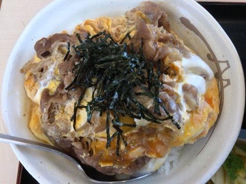 松屋牛とじ丼豚汁ミニお新香セット
