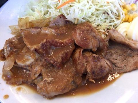 松屋豚肩ロースの生姜焼定食