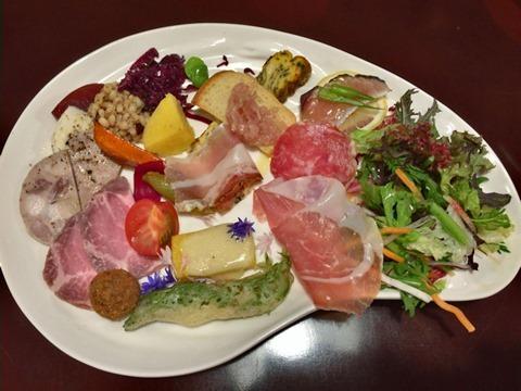 益田食堂前菜の盛合せ