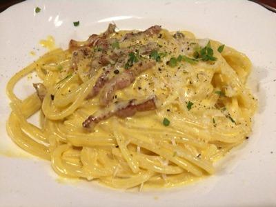 益田食堂北イタリア風カルボナーラスパゲッティ