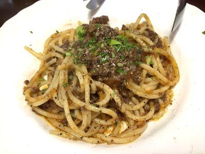 益田食堂近江牛のミートソーススパゲッティ
