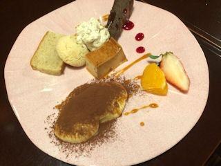 益田食堂デザート3種盛合せ