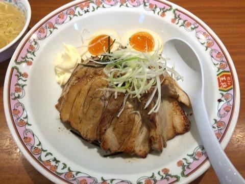 餃子の王将豚バラ焼豚丼