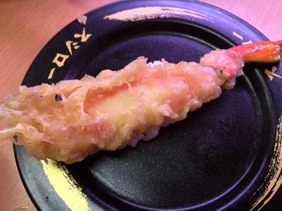 スシロー3貫盛りまつり本ずわい蟹の天ぷら