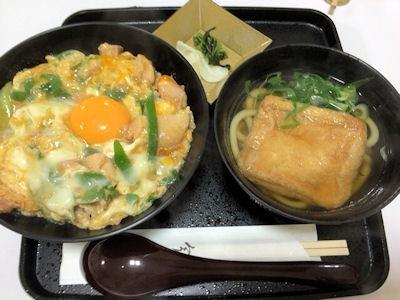 大阪道頓堀今井親子丼と小きつねうどんセット