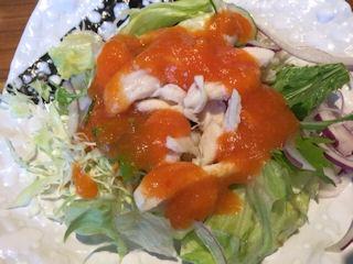 やよい軒夏越ごはんと蒸し鶏サラダの定食