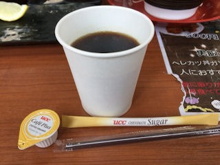 博多豚骨ラーメンまるせん食後のコーヒー