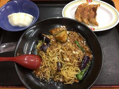 餃子の王将麻婆茄子炸醤麺フェアセットA