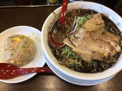 濃厚とんこつラーメンホッポ屋熊本風黒とんこつラーメンチャーハン定食