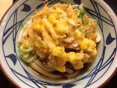 丸亀製麺うどん納涼祭ぶっかけとツブツブのかき揚げ