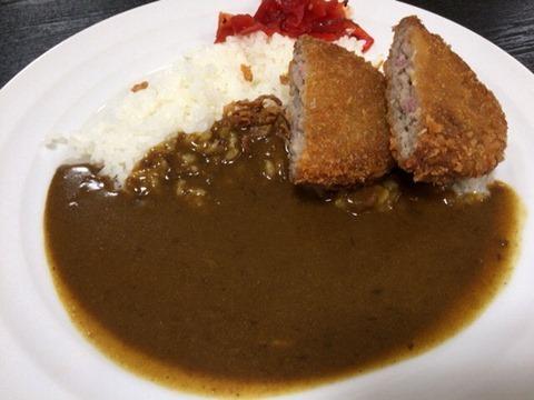 新宿curryshopC&Cミンチカツカレー