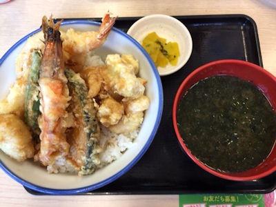 天丼・天ぷら本舗さん天クワトロシュリンプ天丼