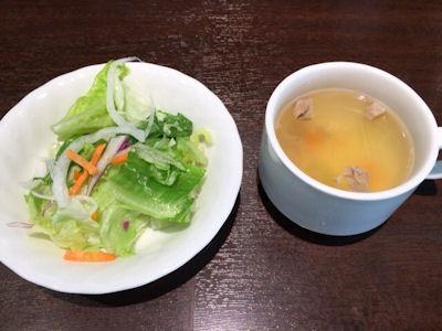 いきなりステーキ新メニューお知らせフェアランチサラダとスープ