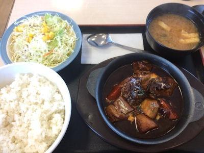 松屋ビーフシチュー定食