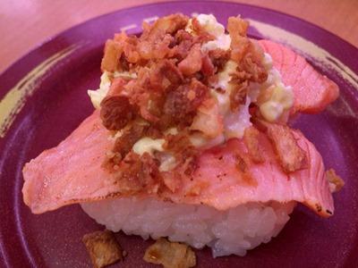 スシロー匠の一皿炙りサーモン自家製タルタル