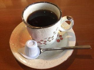 キッチンカトウポークステーキの食後のコーヒー