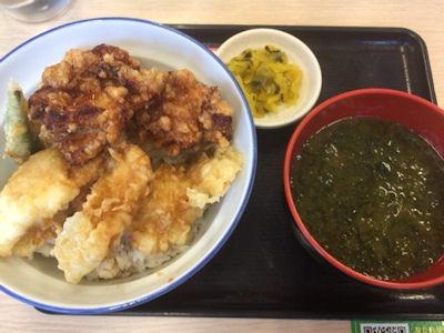 天丼・天ぷら本舗さん天鶏唐x鶏天丼