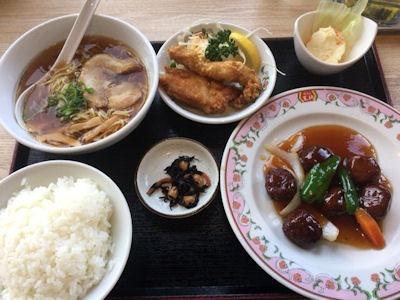 餃子の王将創業祭日替りランチ