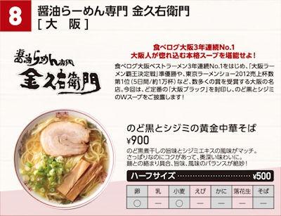 神戸ラーメンフェスティバルのど黒とシジミの黄金中華そば