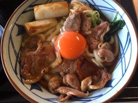 丸亀製麺鴨すき焼きうどん