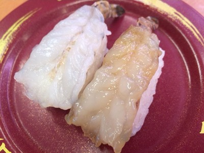 スシローかに祭&まぐろ祭天然車海老食べ比べ(生・漬け)
