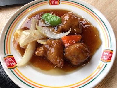 餃子の王将酢豚ジャストサイズ