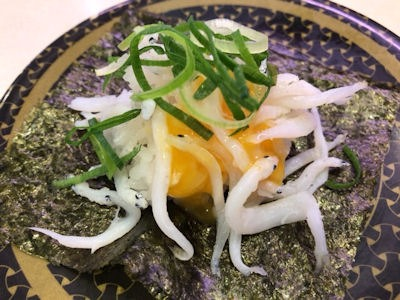 はま寿司希少!高級!春の贅ねた祭り釜茹で白魚つつみ(たまごソース)
