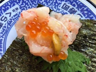 くら寿司くえvs桜鯛フェア豪華甘えび手巻き
