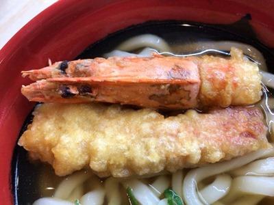 くら寿司くえvs桜鯛フェア特上大えび天うどん