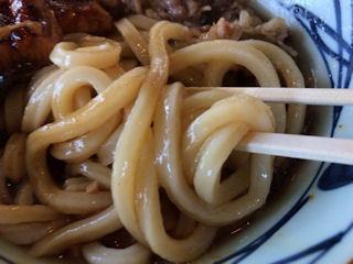 丸亀製麺牛とうなぎのぶっかけうどん(冷)