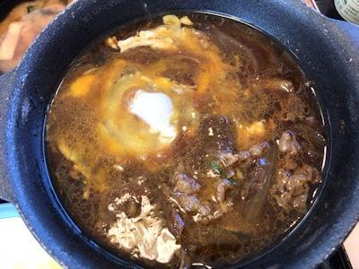 松屋お肉たっぷり牛鍋膳選べる小鉢カレー